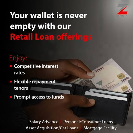 how to apply for zenith bank salary advance